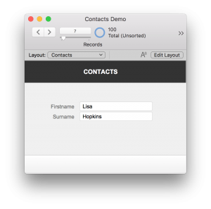 FileMaker Contact Detail